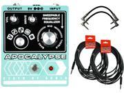 Death by Audio Apocalypse 5-in-1 Fuzz/Distortion Effects Pedal Bundle w/Cables!