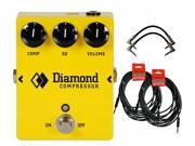 Diamond Pedals Opto Comp Compressor Effect Pedal Bundle with FREE Cables!