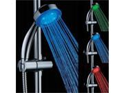 Velecs Temperature Sensor LED 3 Colors Changing RGB Glow LED Shower Head for Kitchen Bathroom with Shower nozzle 78mm Length 215mm Thickness 40mm LD8008-A14(T)