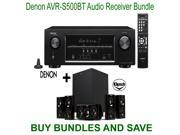 Denon AVR-S500BT 5.2-Channel Network A/V Receiver with Bluetooth + Klipsch HDT-600 Home Theater System