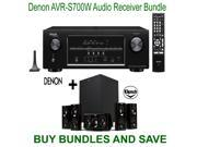 Denon AVR-S700W 7.2-Channel Network A/V Receiver with Bluetooth and Wi-Fi + Klipsch HDT-600 Home Theater System