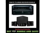 Onkyo TX-NR828 7.2-Channel Wireless Network A/V Receiver, Plus Klipsch HDT-600