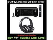 Denon AVR-X2000 Reciver and Denon AHD340 Headphones Bundle