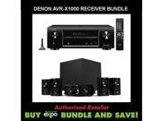 Denon AVR-X1000 In-Command 5.1-Channel Networking Home Theater Receiver with AirPlay,  Plus Klipsch HDT-600 Home Theater Speaker System