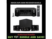 Denon AVR-X4000 In-command 7.2-Channel 4K Ultra HD Networking Home Theater Receiver, Plus Klipsch HDT-600 Home Theater Speaker System