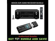 Denon AVR-X2000 In-command 7.1-Channel 4K Ultra HD Networking Home Theater Receiver with AirPlay Plus AudioQuest Dragonfly USB DAC