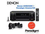 Denon AVRX5200W 9.2 Network A/V Receiver with Wi-Fi and Bluetooth + Paradigm Cinema 100 CT