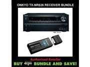 Onkyo TX-NR626 7.2-Channel Network Audio/Video Receiver and AudioQuest Dragonfly USB DAC