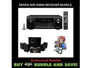 Denon AVR-X4000 In-command 7.2-Channel 4K Ultra HD Networking Home Theater Receiver with AirPlay, Plus Energy 5.1 Take Classic Home Theater System, and Monster Dual HDMI Performance Kit