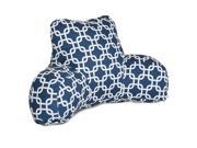 Majestic Home Goods Navy Blue Links Reading Pillow