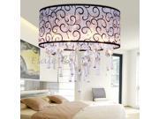 Vintage Retro Crystal Pendant Ceiling 4 Lights Chandelier Lighting Bedroom
