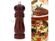 "6"" Wooden Pepper Salt Spice Mill Grinder Grinding Portable Kitchen Gadget Coffee"
