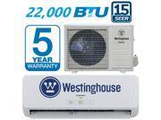 Westinghouse 15 SEER 22000 BTU Mini Split Air Conditioner & Heat Pump 2 TON