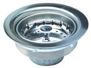 """Everflow, 7512, 4"""" Heavy Duty Chrome Plated Cast Brass, Basket Sink Strainer, Duo Strainer Assembly"""