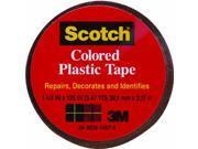"3m Scotch, 191BRN, 1-1/2"" x 125"", Brown, Colored Plastic Tape"