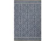 Wool Blue Ivory Tribal Pattern Reversible Rug (8' x 10')
