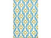 "Polypropylene Blue Green Moroccan Pattern Durable Rug (7' 6"" x 9' 6"")"