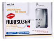 ALFA AWUS036H 1000MW WiFi Wireless USB Network Adapter with 5dB Antenna, Realtek 8187L Chipset (Silver)
