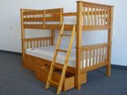 Bunk Bed - Twin over Twin Mission Honey with Drawers