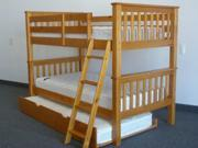 Bunk Bed - Twin over Twin Mission Honey with Trundle