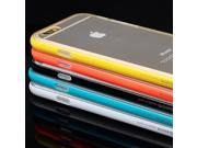 Baseus Color Bumper + Ultra Thin 1mm TPU Matte Back Cover Case For iPhone 6 Plus Black