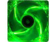 Kingwin Advance Series 120mm Green LED Case Fan, CFGN-012LB