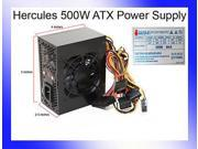 Black Hercules micro ATX 500W Silent Power Supply 20-24pin SATA