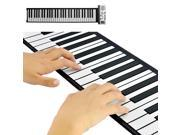Flexible Roll Up Piano with Soft Keys (61 Keys, 128 Synthesized Tones, 100 Preset Rhythms)