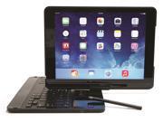 Kyasi Wireless Executive Bluetooth Keyboard Case Folio iPad Air Flip Turn Backlit Keyboard Premium Grade Matte Black