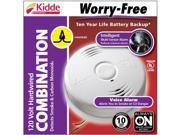 Kidde i12010SCO Hardwire Combination Carbon Monoxide and Smoke Alarm with Sealed Lithium Battery Backup and Voice Warning, Interconnectable