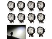 10 x 27W 12V 24V LED Work Light FLOOD Lamp Tractor Truck SUV UTV ATV Offroad