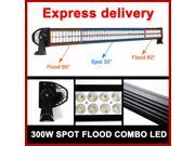 300W 52INCH LED Work Light Bar Combo Spot & Flood Driving Offroad Bar 4WD