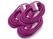 3 x 6 Feet/6FT USB Sync Data Charging Charger Cable Cord for iPhone 4S 4 iPod 4G 4th