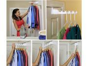 Over The Door Clothes Rack Hanger Holder – Set of 2 (White)