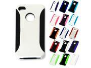 For Apple iPhone 4 4S Full Grip Hybrid Duo-layer Armor Hard Case Phone Cover