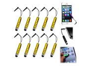 10x Mini Tablet touch Screen Stylus Touch Pen For iPhone 5 5S 5C 4 Samsung Galaxy S3 MINI S2 S3 S4 iPad SmartPhone
