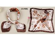 2015 The in Pure silk Female changed small squares printed scarf of Business attire Silk scarves of The bank staff Mobile workers' Clothing decoration