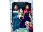 """12""""3PCS Frozen Barbi Princesses Elsa Anna Olaf Snowman Set Playset Dolls Toys"""