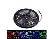 SUPERNIGHT 5M 16.4ft 5050 SMD 150 LED RGB Red/Green/Blue Light Strip Bright Flexible Lamp Waterproof 30LEDs/M Black PCB