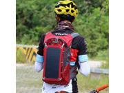 SuperNight® New Outdoor Sports Travel Biking Solar Powered Backpack + Solar Panel Bag Charge Charging 5V USB Devices Cellphone,GPS,Mp4, Mp5, Tablet -Red