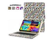 "SuperNight® Universal 9""-10"" Leather Stand Folding Folio Back Case Cover + Detachable Removable Magnetic Bluetooth 3.0 Keyboard For Ipad Air 1 2 / Samsung Galaxy Tab 4 10.1 T530 T531"