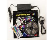 SuperNight® 16.4ft 5M Non-waterproof Flexible Strip 300leds Color Changing RGB SMD3528 LED Light Strip Kit RGB 5M +44Key IR Remote Controller+12V 3A Power Supply