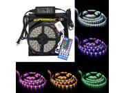 SuperNight® 16.4ft RGBWW Color Changing LED Strip Light Kit, Black Roll LED Tape with 5050 300leds Waterproof RGBWW LED Flexible Lighting, Controller with 40 Key RGBW Remote Controller + 12V 5A Power