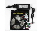 SuperNight® 32.8ft 10M Non-waterproof Flexible Strip 600leds Color Changing RGB SMD5050 LED Light Strip Kit RGB 5M +24Key Remote+24V 5A Power Supply