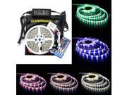 SuperNight® 16.4ft RGBW Color Changing LED Strip Light Kit, With 5050 300leds Waterproof RGBW LED Flexible Lighting, Controller with 40-button Remote and 12V 5A Power Supply