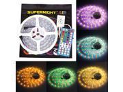 SuperNight® 16.4ft RGBWW RGB+Warm White LED Strip Flexible Light Kit , 5050 300led Waterproof IP67 RGBWW LED Lighting + 40Key IR Remote Controller
