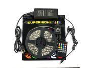 SuperNight® 10M Super Long 5050 RGB Flexible LED Strip Light Full Kit DC24V 600LEDs Non-Waterproof LED Tape Light + 20Keys IR Music Remote Controller+ 24V 5A Power