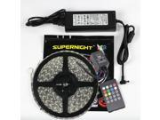 SuperNight® 10M RGB 5050 SMD 300LEDs 32.8FT Extra Long Flexible LED Strip Light Kit 20Key LED Music IR Remote Controller Party LED Light Wedding Lighting Xmas DC24V