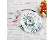 White Chandelier Lamp Hallway Pendant Crystal LED Ceiling Light With Round Shape