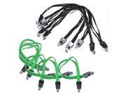 5PCS Bicycle Rubber Bungee Cord Plastic Hooks Elastic Luggage Tied Rope